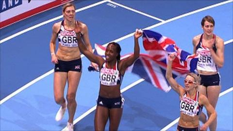 The GB women's 4x400m