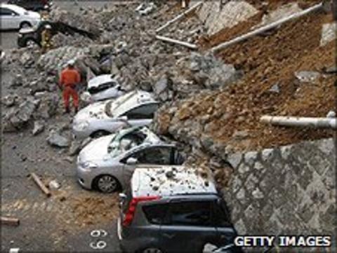 Earthquake damage in Mito