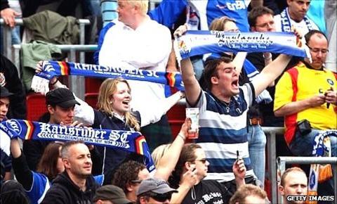 Fans at Werder Bremen's Weserstadion