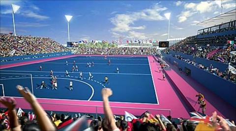 An impression of the London 2012 hockey stadium