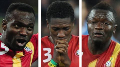 John Mensah, Asamoah Gyan and Sulley Muntari