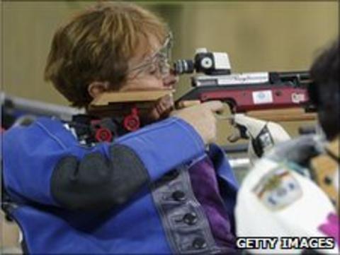 Paralympic shooter Di Coates