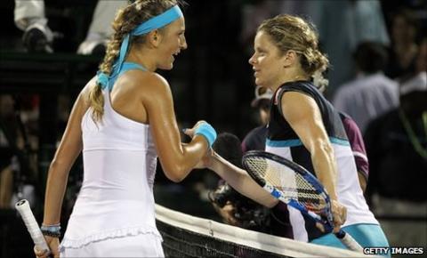 Victoria Azarenka and Kim Clijsters