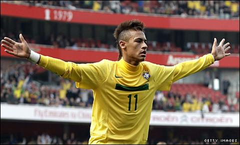 Brazil's teenage star Neymar
