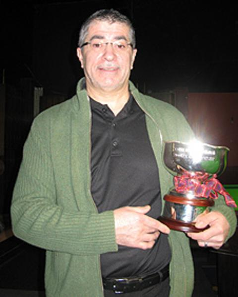 John Rae holds the new Scottish Professional Championship trophy