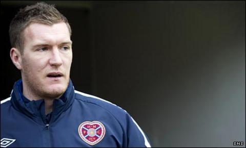 Hearts striker Kevin Kyle