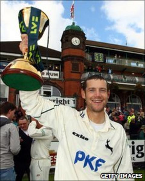 Chris Read with the County Championship trophy