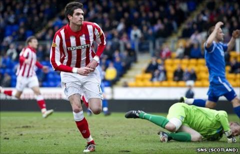 Rangers striker Kyle Lafferty