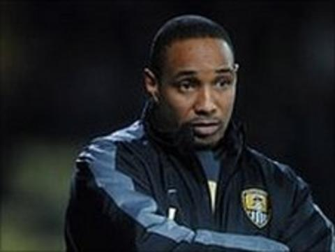 Paul Ince, the former Notts County manager, at Meadow Lane