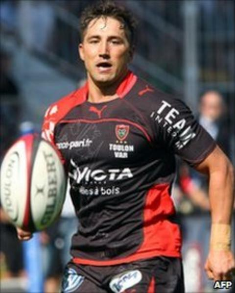Gavin Henson in action on his Toulon debut