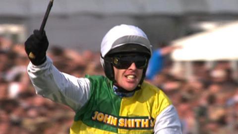 Winning jockey Jason Maguire