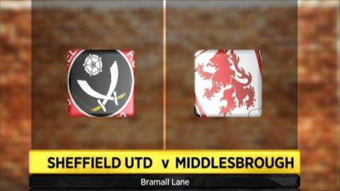 Graphic of Sheffield United v Middlesborough