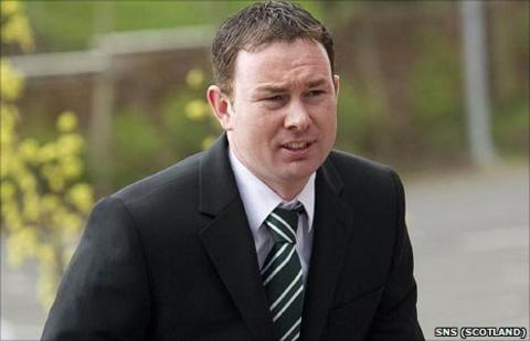 Hibs assistant manager Derek Adams