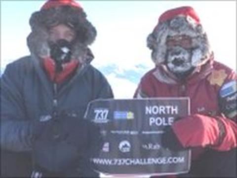 Steve Williams and Richard Parks at North Pole