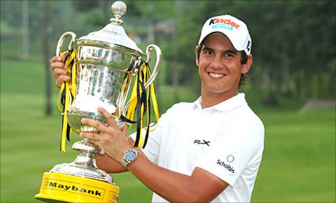 Matteo Manassero and the trophy