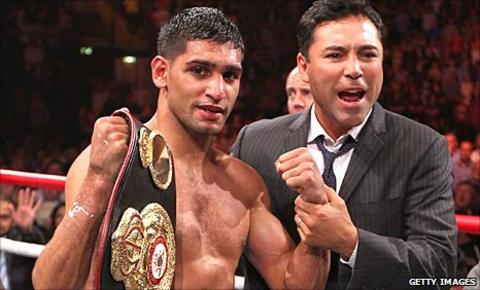 Amir Khan and Oscar de la Hoya