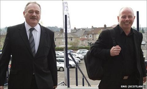 Hibernian Chairman Rod Petrie and Aberdeen chairman Stewart Milne