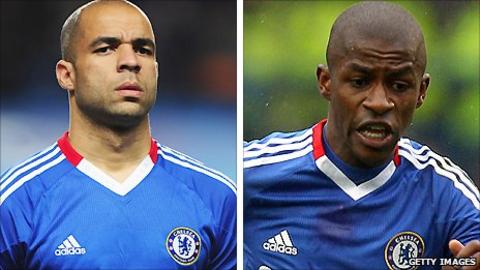 Chelsea centre-back Alex (left) and midfielder Ramires