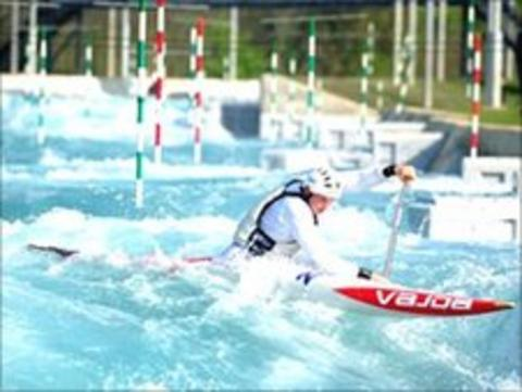 The Lee Valley Olympic slalom course