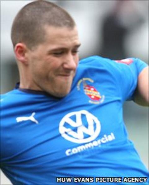 Bangor City captain Jamie Brewerton