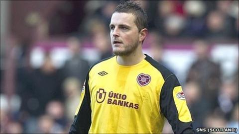 Hearts goalkeeper Marian Kello