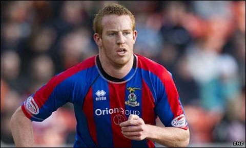 Inverness striker Adam Rooney