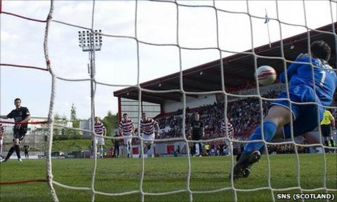 Tomas Cerny saved a penalty from Chris Maguire during the 1-1 draw at New Douglas Park
