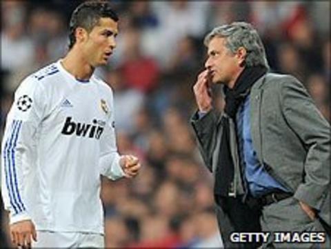 Ronaldo and Jose Mourinho