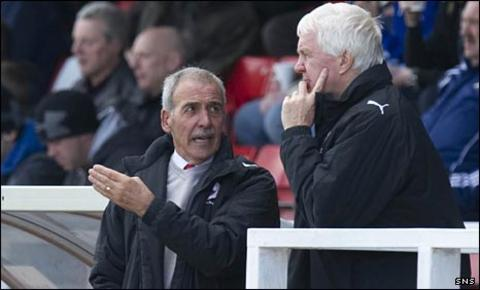 Stirling Albion's Jocky Scott and John Blackley