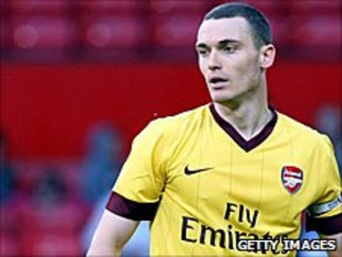 Thomas Vermaelen playing for Arsenal reserves