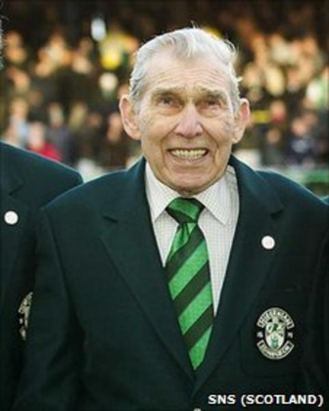 Eddie Turnbull, pictured at Easter Road in 2004