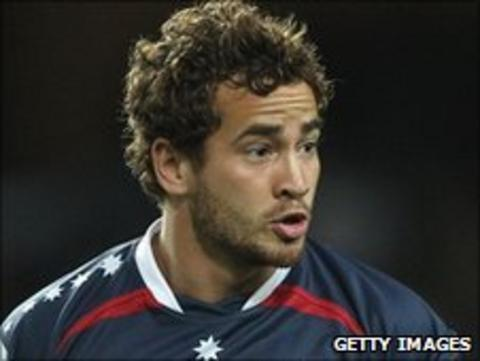 Danny Cipriani playing for Melbourne Rebels