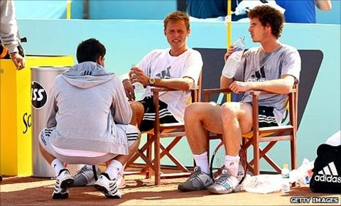 Andy Murray and his current coaching team