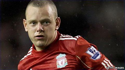 Liverpool midfielder Jay Spearing