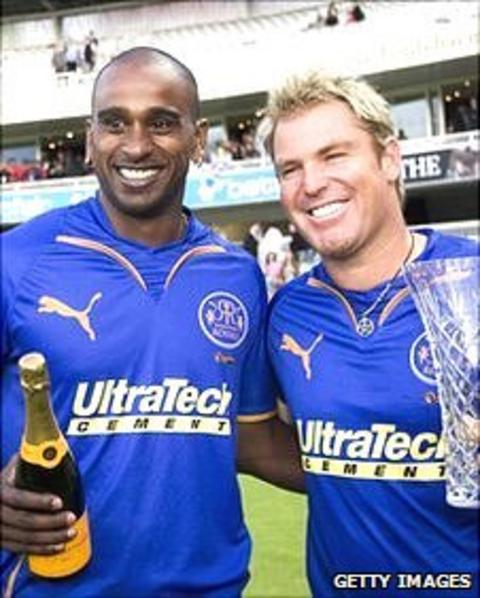 Dimitri Mascarenhas and Shane Warne