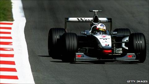 David Coulthard in a 1998 McLaren