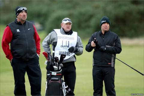 Sir Ian Botham (far left), with Shane Warne