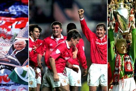 Manchester United win the title in 1994