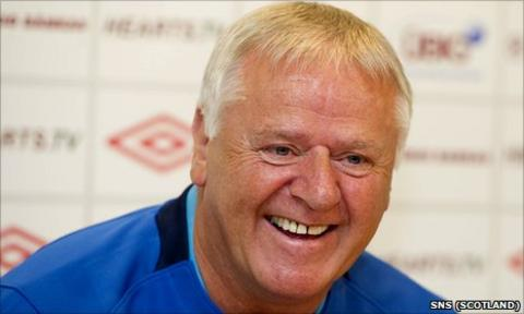 Hearts manager Jim Jefferies