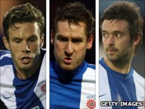 Andy Monkhouse, Neil Austin and Adam Boyd