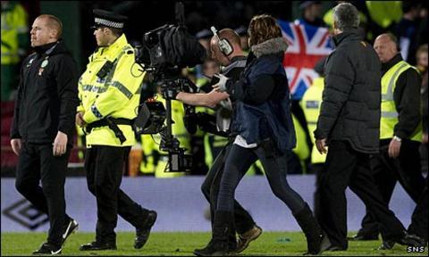 Police guard Celtic boss Neil Lennon