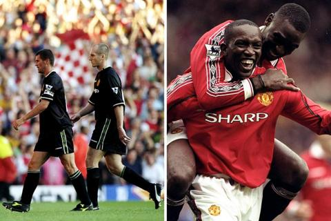 Roy Keane and Jaap Stam; Dwight Yorke and Andrew Cole