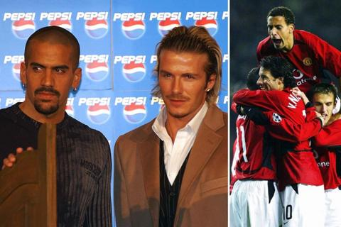 Juan Sebastian Veron and David Beckham; Rio Ferdiand and Ruud Van Nistelrooy