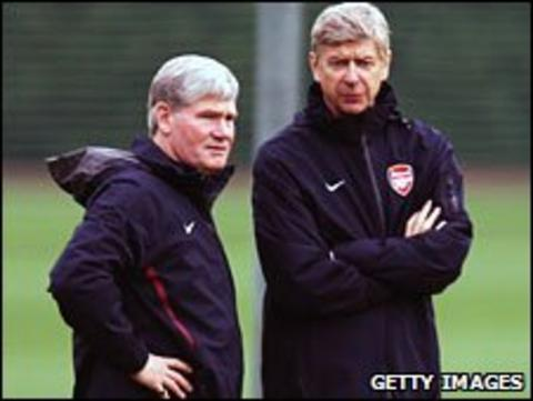 Pat Rice and Arsene Wenger
