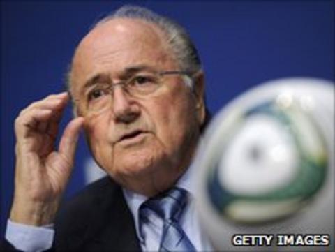 Current Fifa president Sepp Blatter