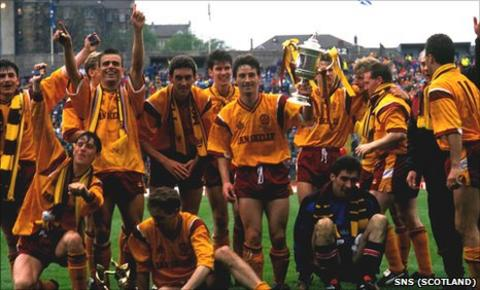 Motherwell's 1991 Scottish Cup winning squad