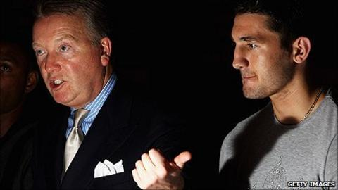 Frank Warren and Nathan Cleverly