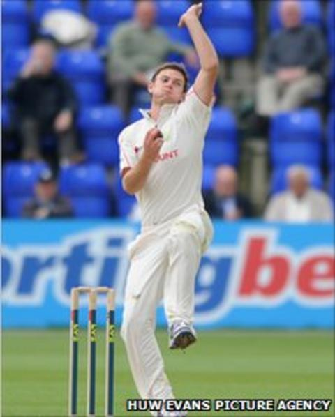 Glamorgan seamer James Harris