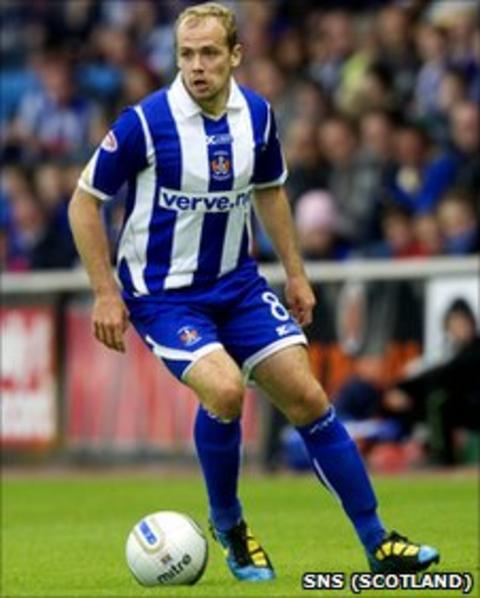 Jamie Hamill in action for Kilmarnock