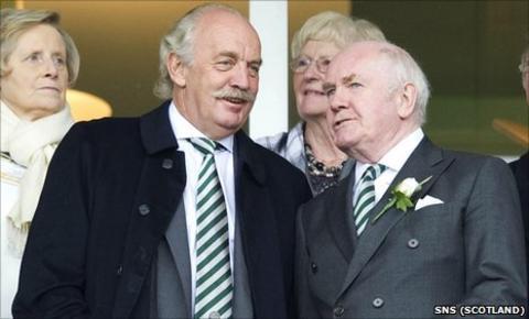 Celtic majority shareholder Dermot Desmond and chairman John Reid